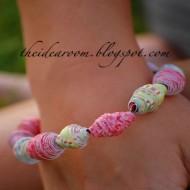 Paper Bead Bracelets or Necklaces