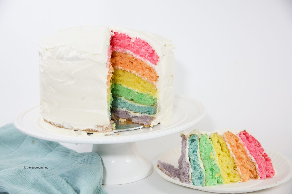 Layer Rainbow Birthday Cake