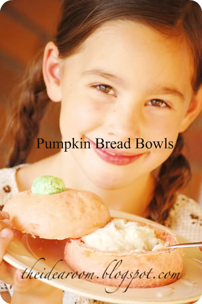 Pumpkin Shaped Bread Bowls
