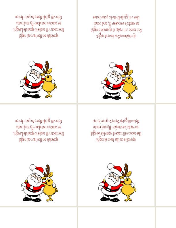 48 Reindeer Food Labels Wildlife Friendly Poem Sticker school fete craft fayre