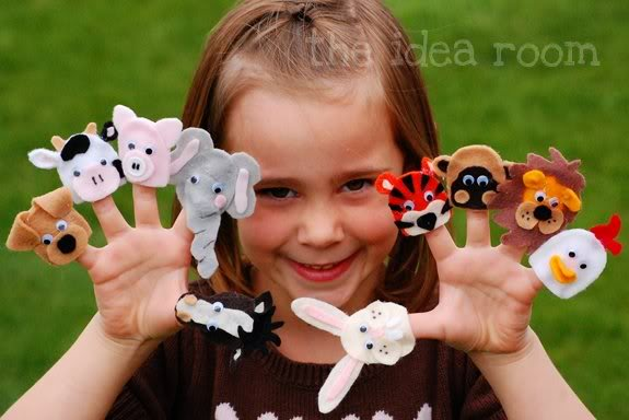 Animal Finger Puppets Craft