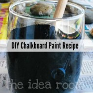 Make Chalkboard Paint–Chalkboard Rocks