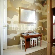 DIY Make A Lego Table and Paint a Camoflauge Wall