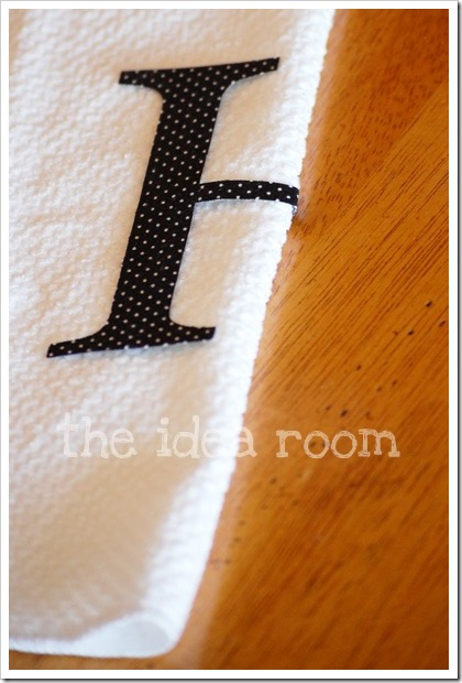 monogrammed towel 7wm