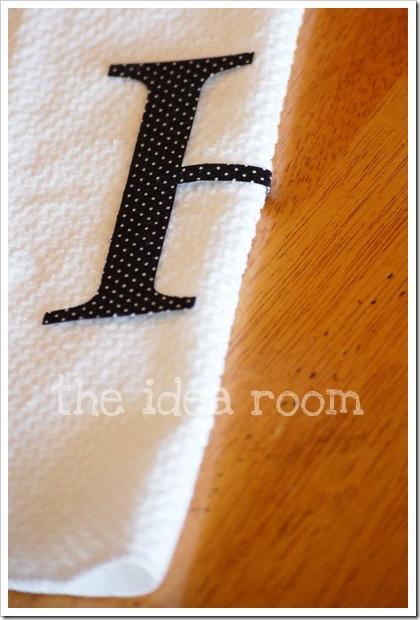 monogrammed towel 7wm
