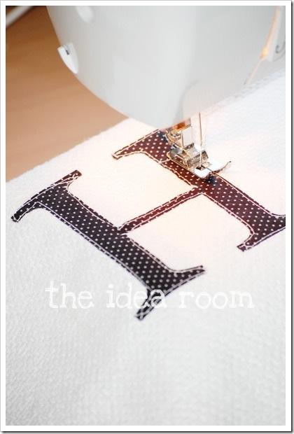 monogrammed towel 8wm