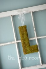 DIY Moss Covered Initials