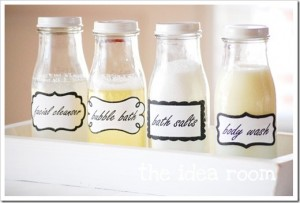 DIY Labeled Bathroom Jars
