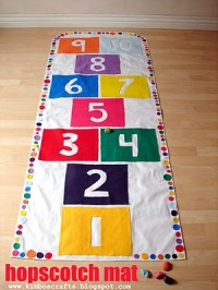Hopscotch Play Mat by A Girl and a Glue Gun