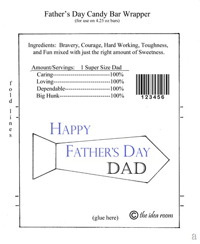 Father's Day Hershey Bar Wrappers