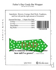 Father's Day Candy Bar Wrapper green