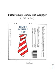 Father's Day Candy Bar Wrapper red stripe 1.55 oz