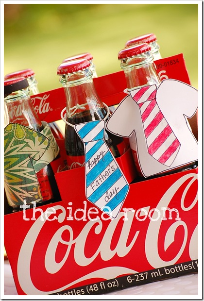 Fathers Day gift idea & Fatheru0027s Day Gift- Soda Bottle Covers