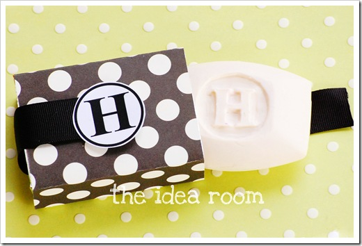 monogrammed soap with cover