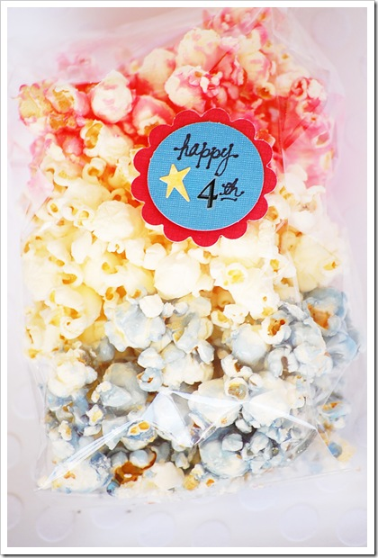 red white blue popcorn