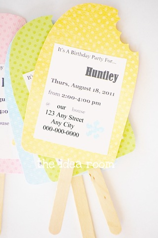 Birthday Party Invitation Idea