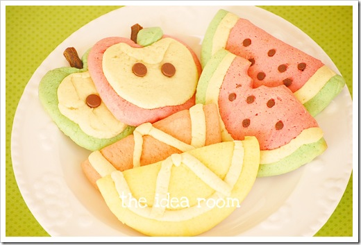 Fruit Shaped Sugar Cookies