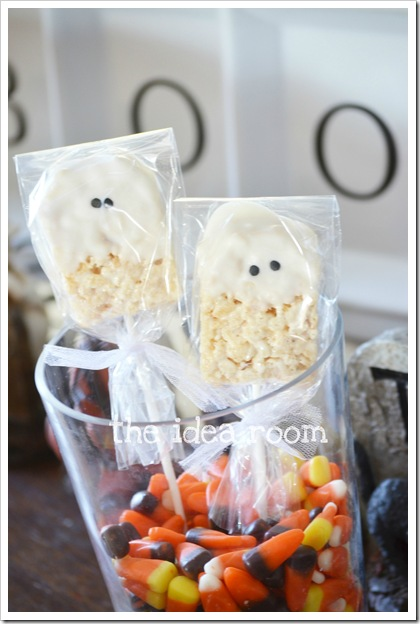 Rice Krispie Ghosts from the Idea Room