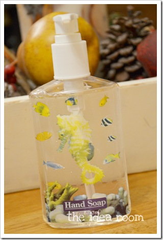 Thanksgiving Craft Soap Bottle awm