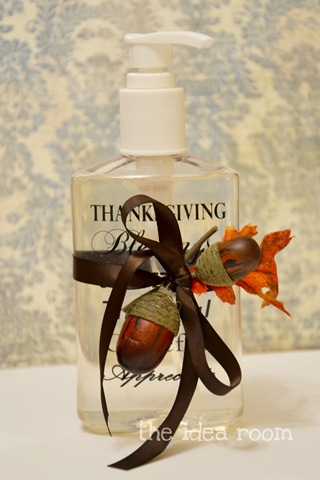 Thanksgiving Craft–Soap Bottles