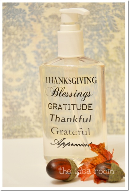 Thanksgiving Craft Soap Bottle gwm