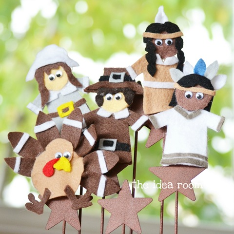 Thanksgiving Craft—Finger Puppets