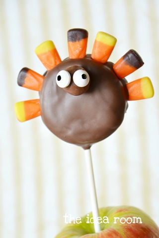 Thanksgiving Turkey Treats—Oreo Pops