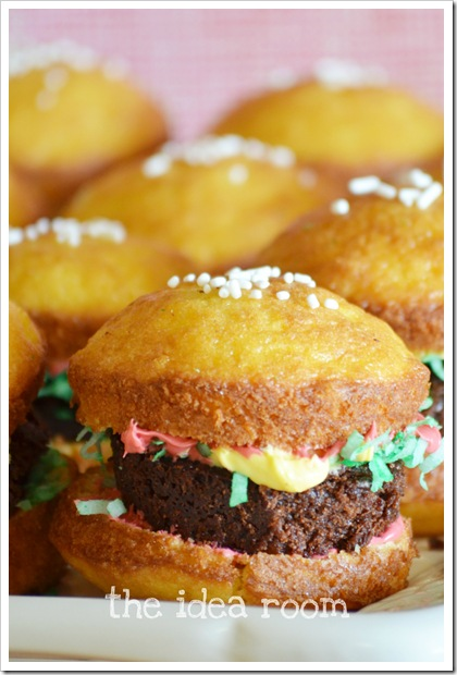hamburger cupcake 3wm