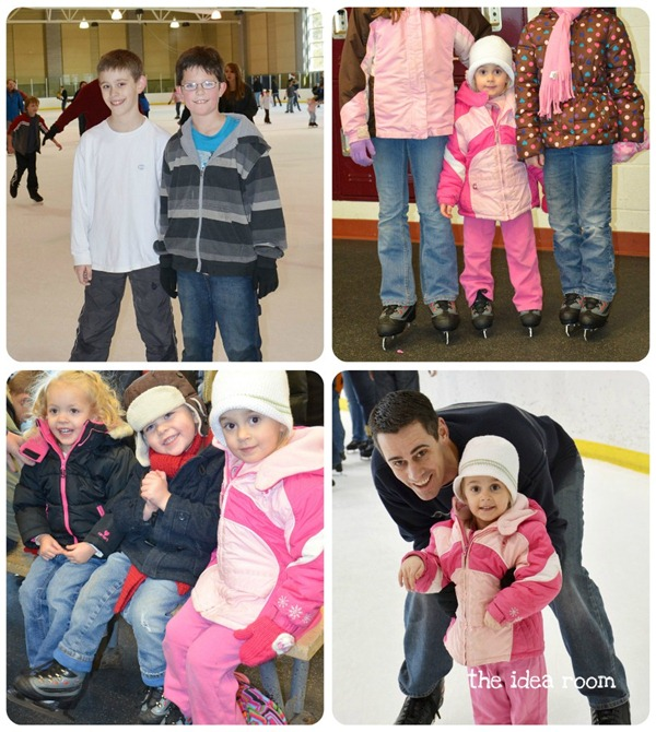 Christmas iceskating collage 2011