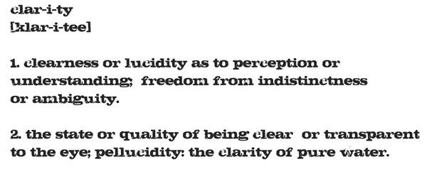 clarity word 2