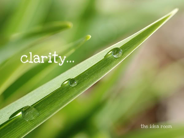 clarity..