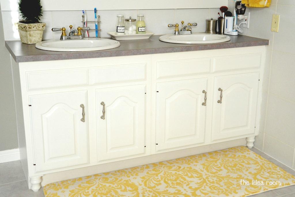 updating builder grade bathroom cabinets - the idea room
