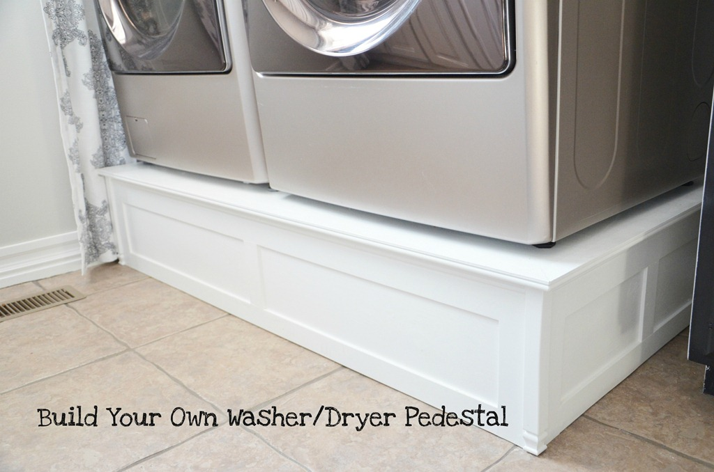 build washer and dryer platform