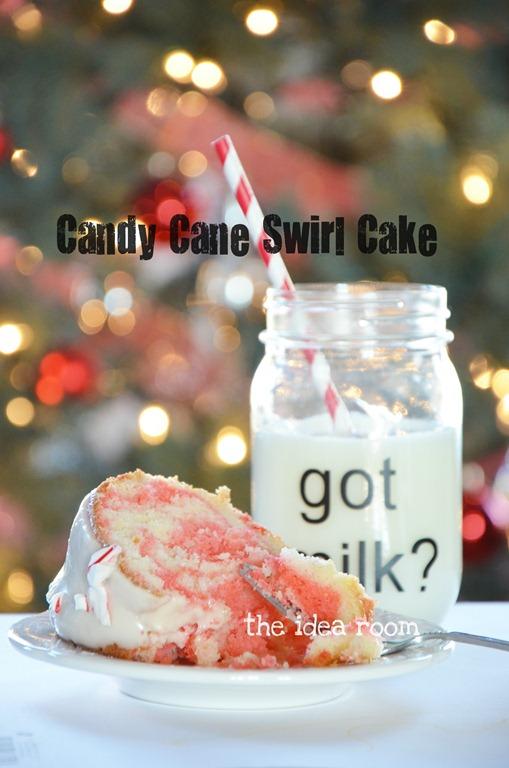 Candy cane swirl cake