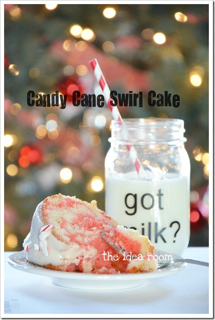 Candy cane swirl cake cover 6wm