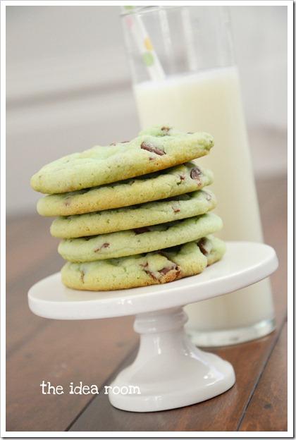 mint chocolate chip cookies 4wm