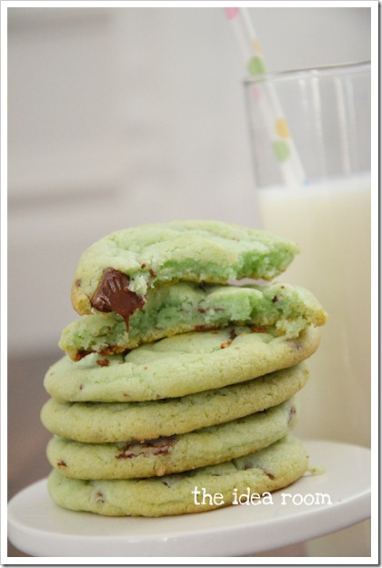 mint chocolate chip cookies 5wm