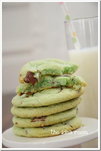 mint chocolate chip cookies 5wm