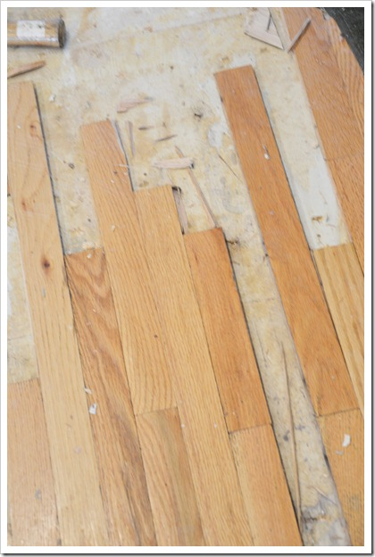 old wood floor tear out