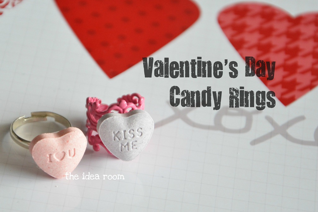 Valentines Day Crafts – Candy Rings