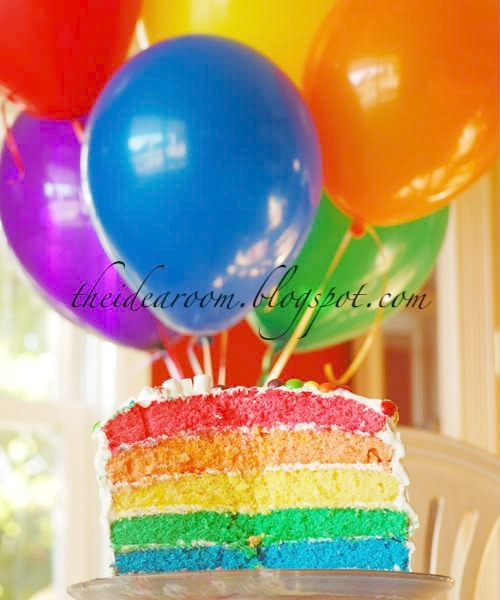 Awe Inspiring Rainbow Layer Cake Recipe Funny Birthday Cards Online Elaedamsfinfo
