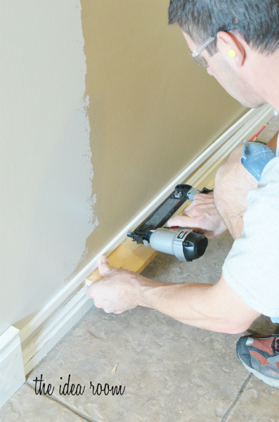 How to diy taller baseboards with existing construction Baseboard height