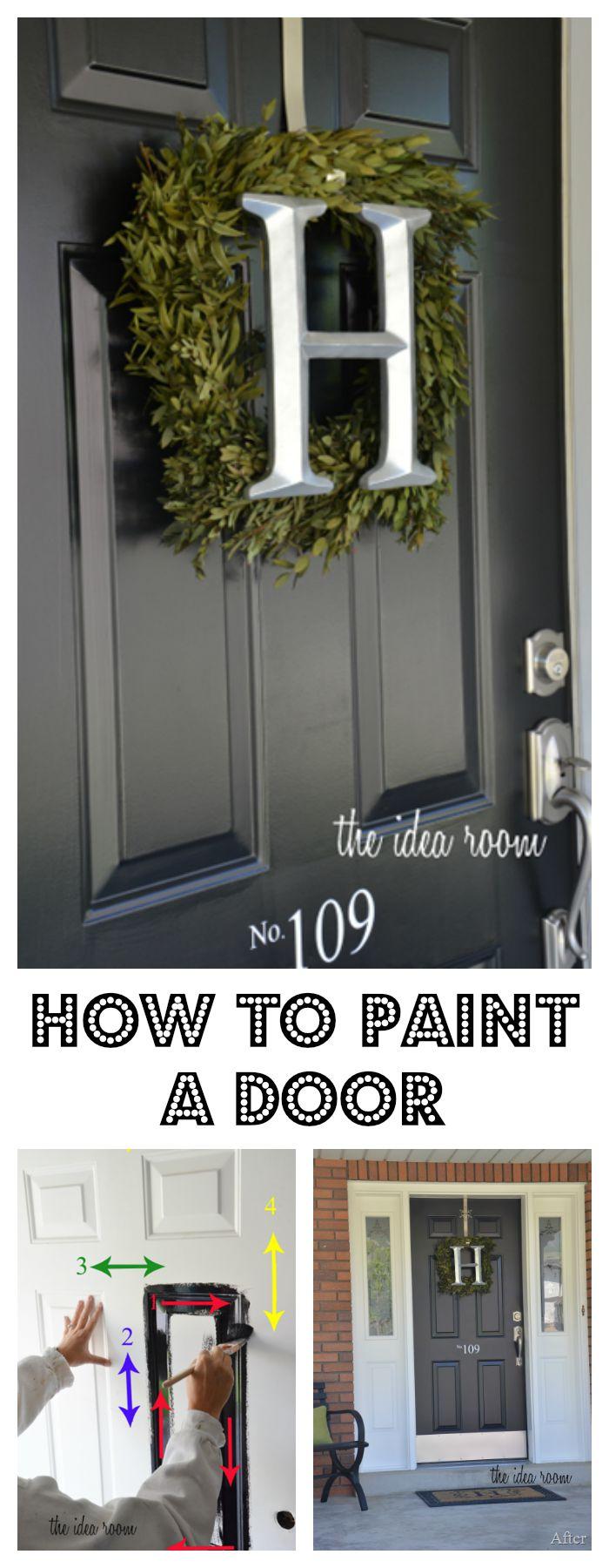 How-to-paint-a-Door-DIY-Home-Ideas