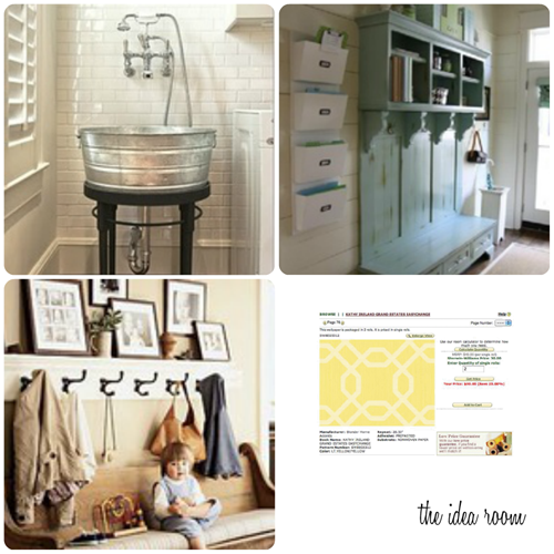 diy mudroom collage