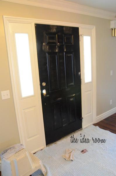how to paint a door. Black Bedroom Furniture Sets. Home Design Ideas