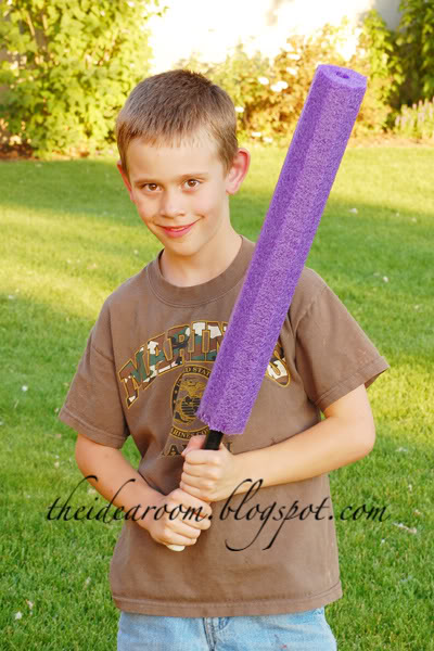 Diy light sabers for Swimming pool applewood swords