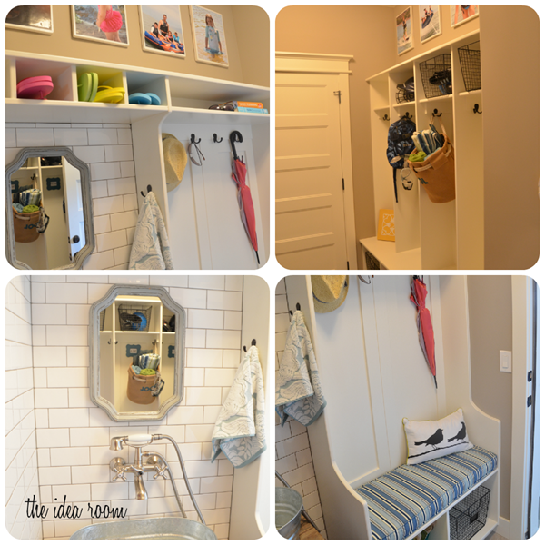 house collage mud room