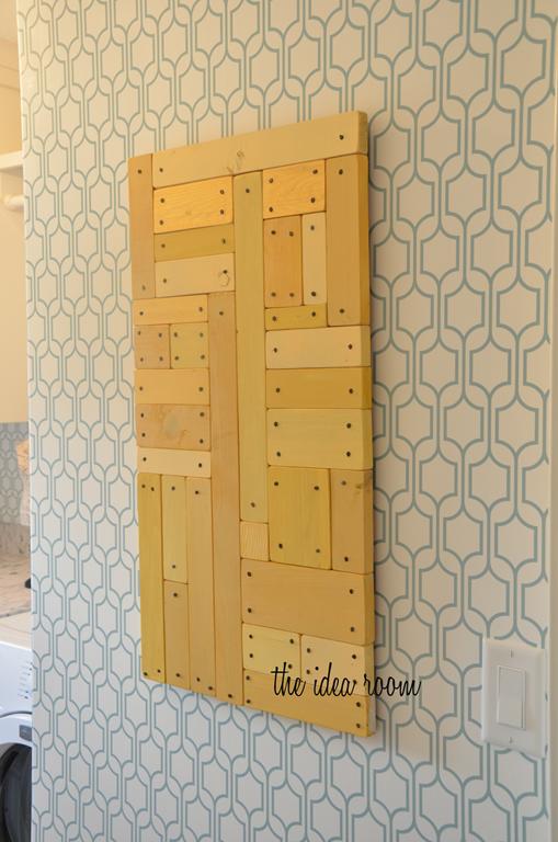 Wood Block Wall Art Tutorial