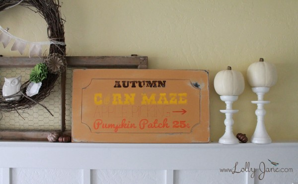 Fall craft sign