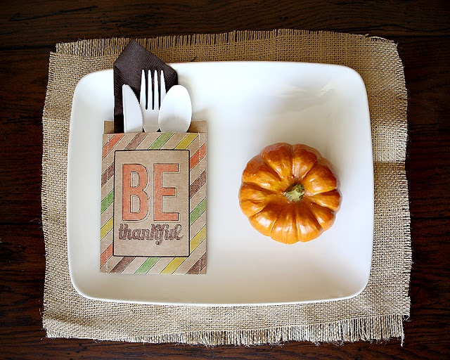 BE THANKFUL–utensil holders